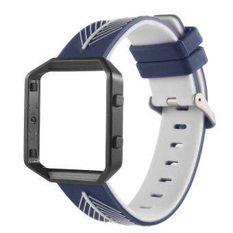 leegoal Fitbit Blaze Band, Silicone Watch Strap Adjustbable Wrist Band And Magnetic Loop Stainless Steel Replacement Accessories For The Fitbit Blaze Smart Fitness Watch