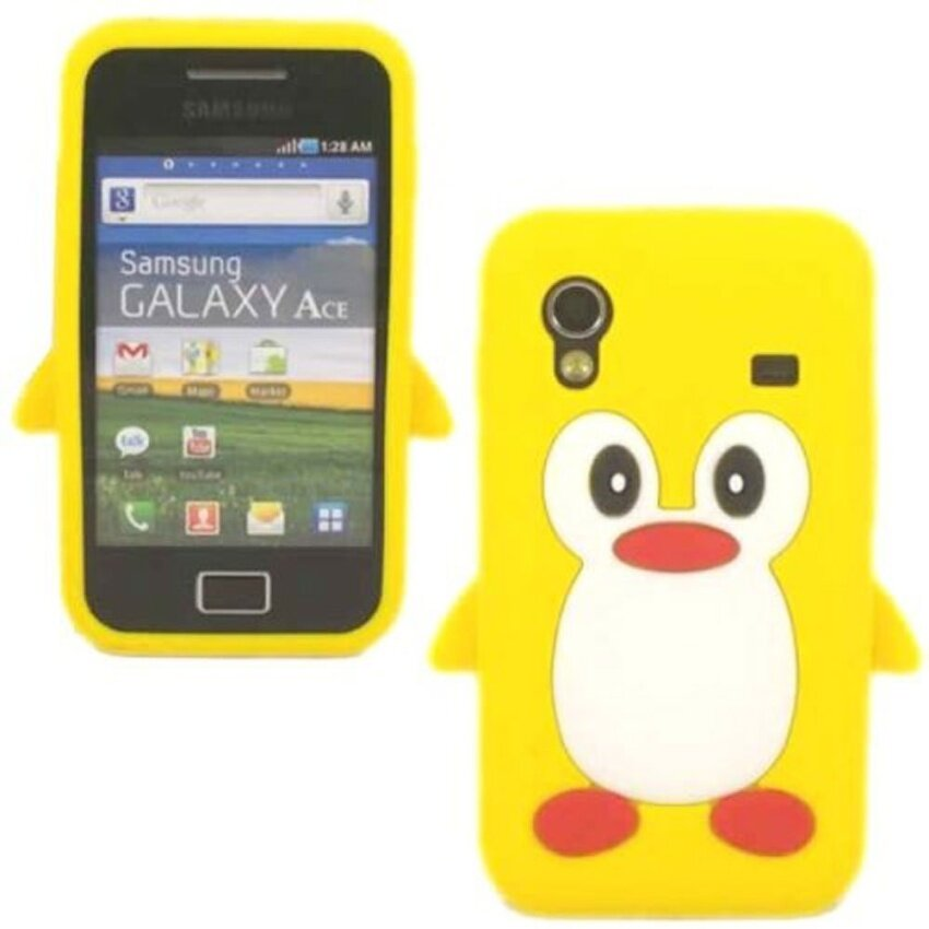 Leegoal Yellow 3D Penguin Silicone Soft Skin Gel Case Cover .