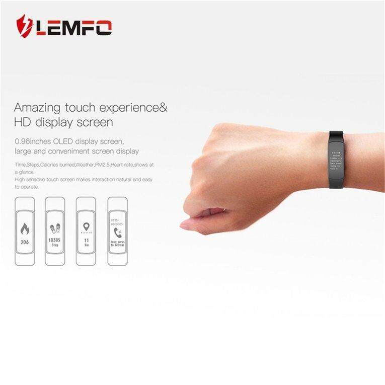 LEMFO I6HR Pedometer Heart Rate Waterproof Smart Bracelet for Android for iOS
