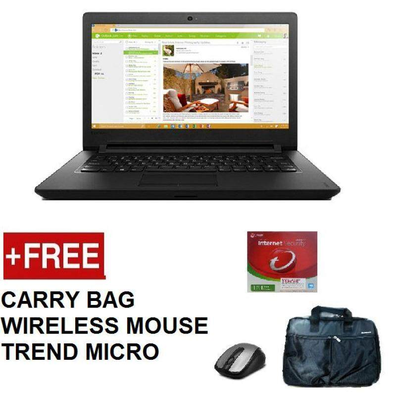 LENOVO 320-14AST AMD A6 NOTEBOOK 80XU004PMJ (AMD A6-9220,4GB,500GB,DVDRW,14,WIN10,1 YEAR WARRANTY) FREE CARRY BAG + WIRELESS MOUSE + TREND MICRO INTERNET SECURITY Malaysia