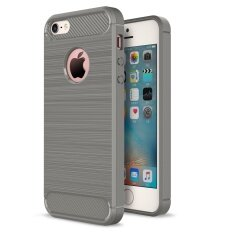 Lenuo Anti-knock Carbon Fiber Silicone Brushed cell phone Back Cover TPU Soft Case for