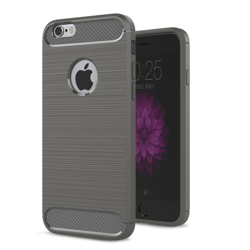 Giá Lenuo Anti-knock Carbon Fiber Silicone Brushed cell phone Back Cover TPU Soft Case for  iPhone 6 Plus 6s Plus