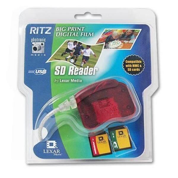 Lexar/Ritz USB Digital (SD) dan Kartu Multimedia (MMC) Kartu Memori Pembaca Merah RW014 Ritel-Intl