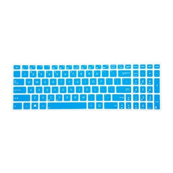 Leze - Ultra Thin Keyboard Skin Cover for ASUS UX501 K501UX F554LA F555LA F555UA F556UA R556LA X540SA X552 X555DA GL502VY GL502VS GL702VM GL702VS GL552VW GL752VW GL552JX Q504UA Q534UX Q524UQ - Blue - intl