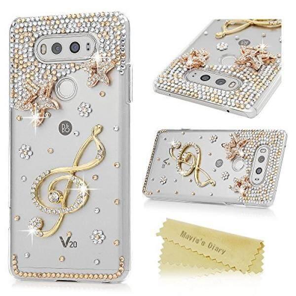 LG V20 Case-Maviss Diary Hard Plastik Case Mewah 3D Handmade Bling Kristal Rhinestones Mengkilap