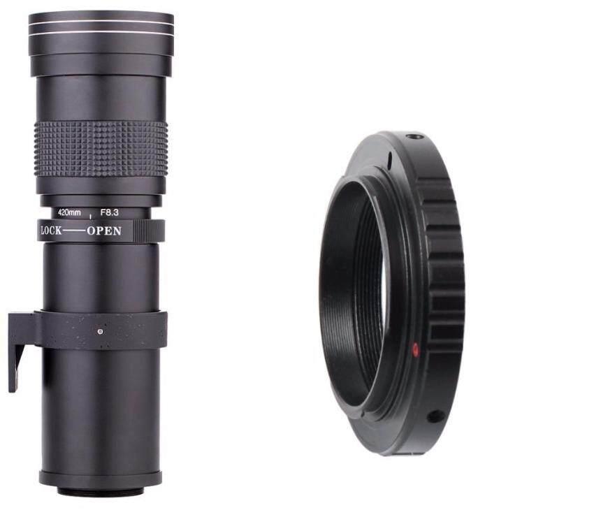 Lightdow 420-800 Mm F8.3-16 Super Lensa Telefoto Manual Lensa Variabel untuk Sony-Intl