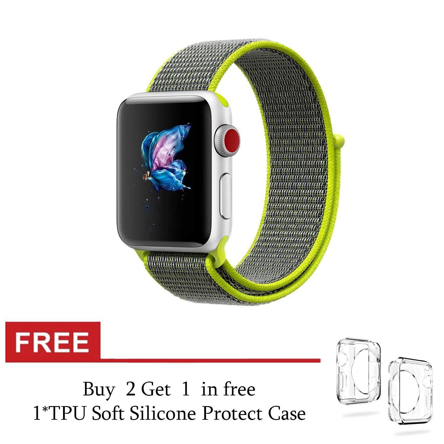Brand New Lightweight Soft Breathable Woven Nylon Replacement Sport Loop Band For Iwatch Series 3 2 1 38Mm Intl