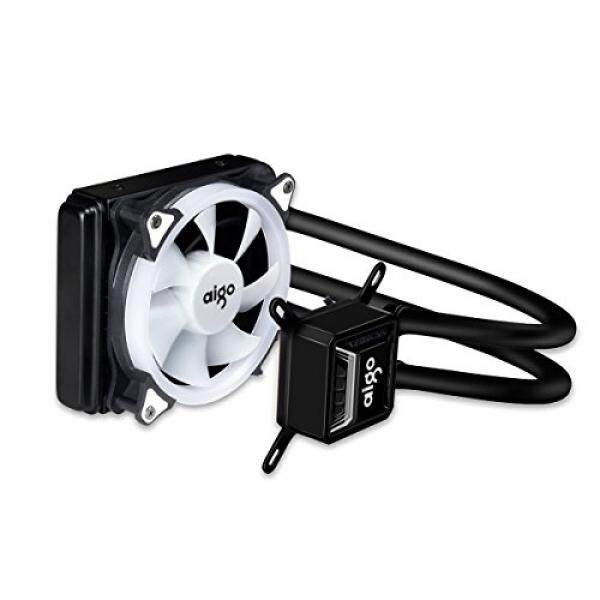 Liquid CPU Cooler Aigo All-In-One Water Cooling System High Performance Adjustable 120mm PWM Fan with White LED Light Intel/AMD AM4 Available