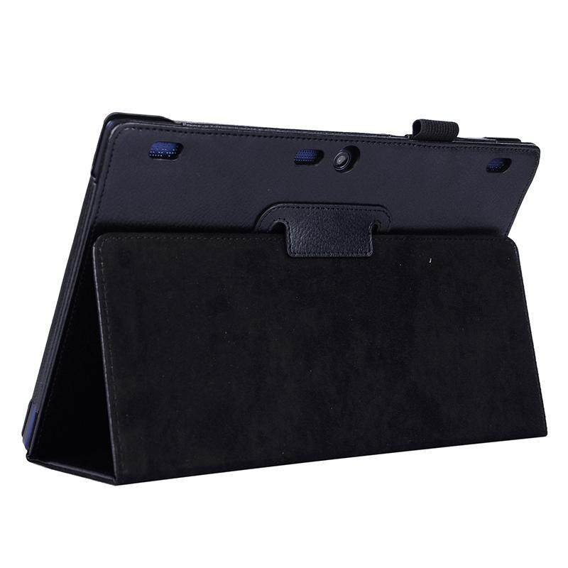 Cheaper Litchi Texture Horizontal Flip Solid Color Leather Case With Two Folding Holder For Lenovo Tab2 A10 70 Black Intl