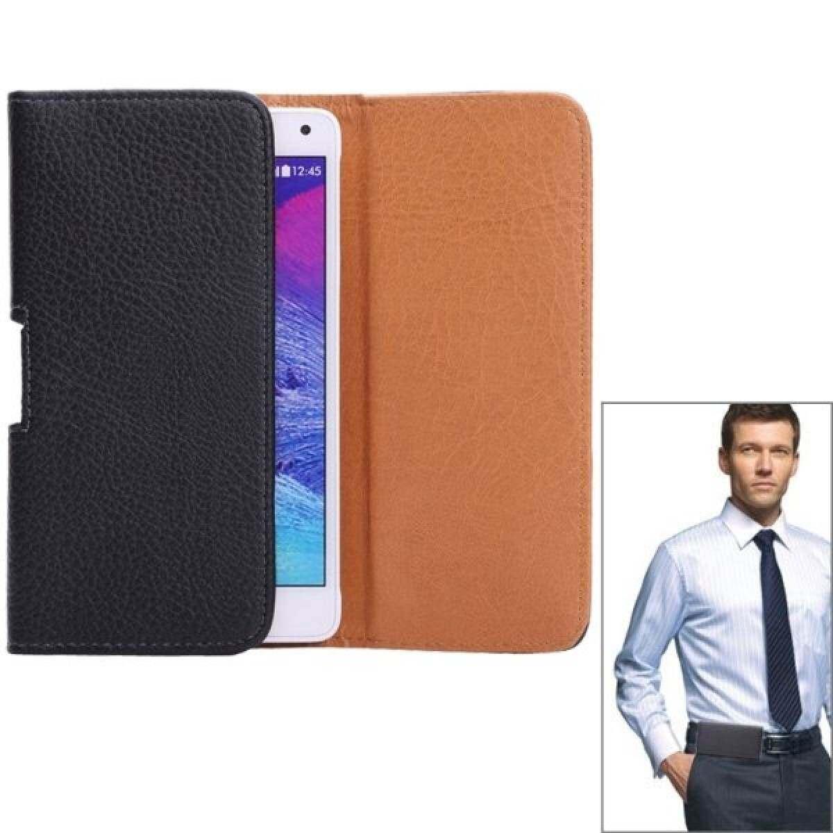 Lengkeng Tekstur Horizontal STYLE Tas Pinggang untuk Samsung Galaxy Note 4/Note 3/Note II/N7100