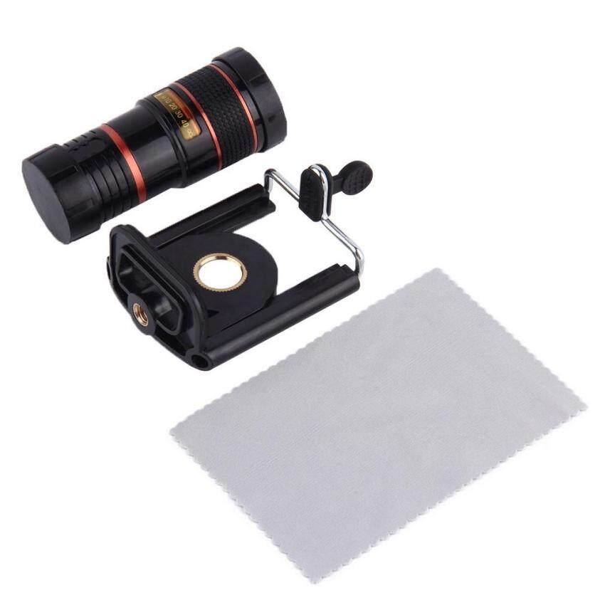 ... Teleskop Fokus Panjang Lensa Kamera untuk HP Universal Mount 8X Zoom Optik Intl