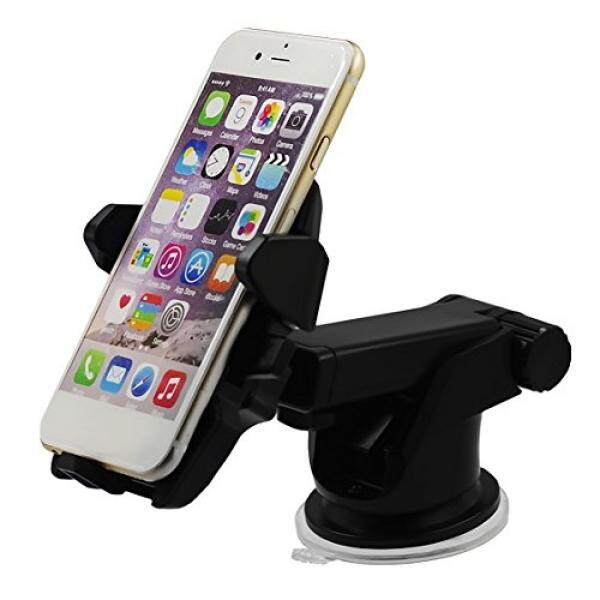 Long Neck One Touch 360 Degrees Twist, Universal Car Mount, Washable, Strong Sticky Gel Pad, for IPHONE X/8/8 PLUS/7/7 PLUS/6/6S/6S PLUS/SE/SAMSUNG GALAXY S8 edge/ S7/ S6/Note 8/7/6/5/4 and MORE.... - intl