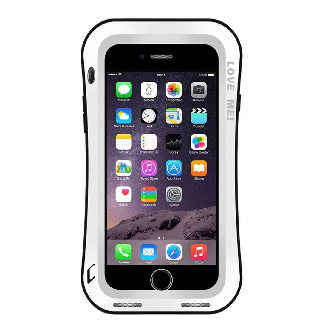 CINTA MEI untuk Iphone 7 Plus Ukuran Pinggang Triobump Profesional dan Kuat Tahan Debu Tahan Guncangan Anti-Slip Casing Pelindung Logam (Putih)-Intl