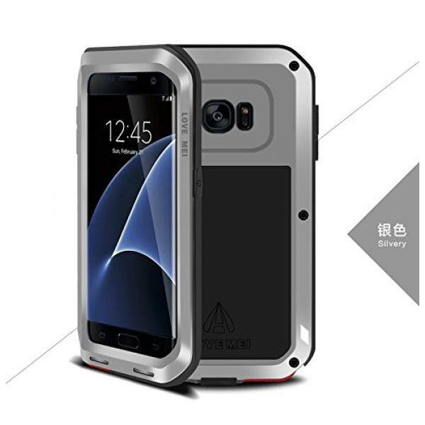 Love MEI Samsung GALAXY S7 Edge Case , Shockproof Dust/Dirt Proof Aluminum Metal Case Heavy Duty Protection Case Cover for Samsung GALAXY S7 Edge (Silver) - intl