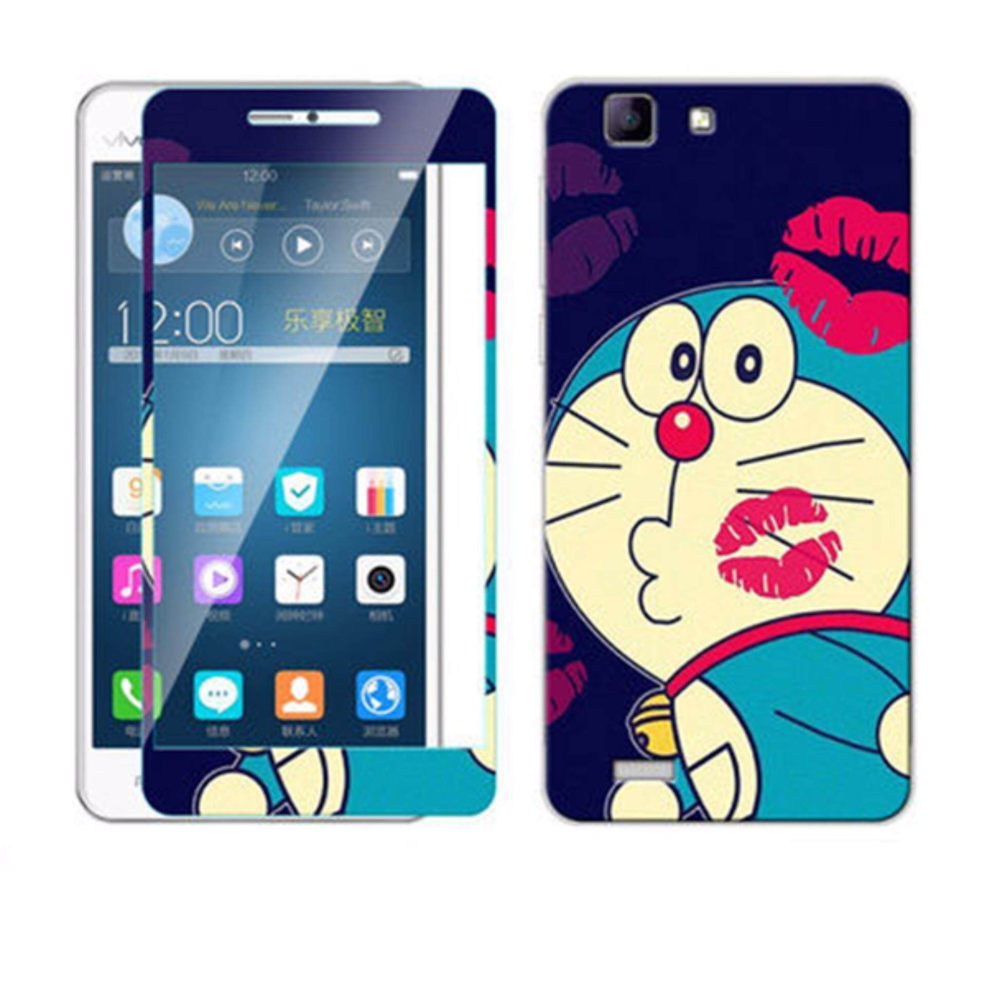 Luxury 3D Painting Front+Back Full Case Cover Color Tempered Glass Case For vivo x3l