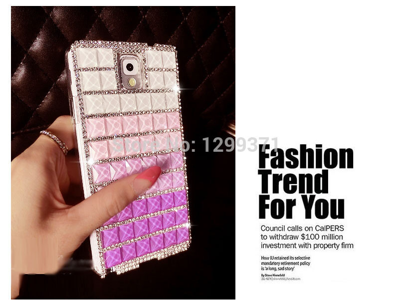 Luxury Fashion Luxury Gradient Color Rhinestone Crystal Diamond Case Cover For Huawei Honor 3C Play - intl