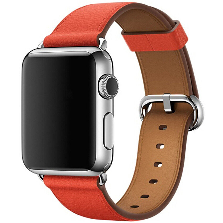 Buy Luxury Genuine Leather Watch Strap Bracelet Wrist Band For Apple Watch Iwatch 38Mm Orange Intl Cheap China