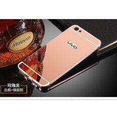 Luxury Metal Frame And Mirror PC Back Cover Case For VIVO Y55 / Y55A