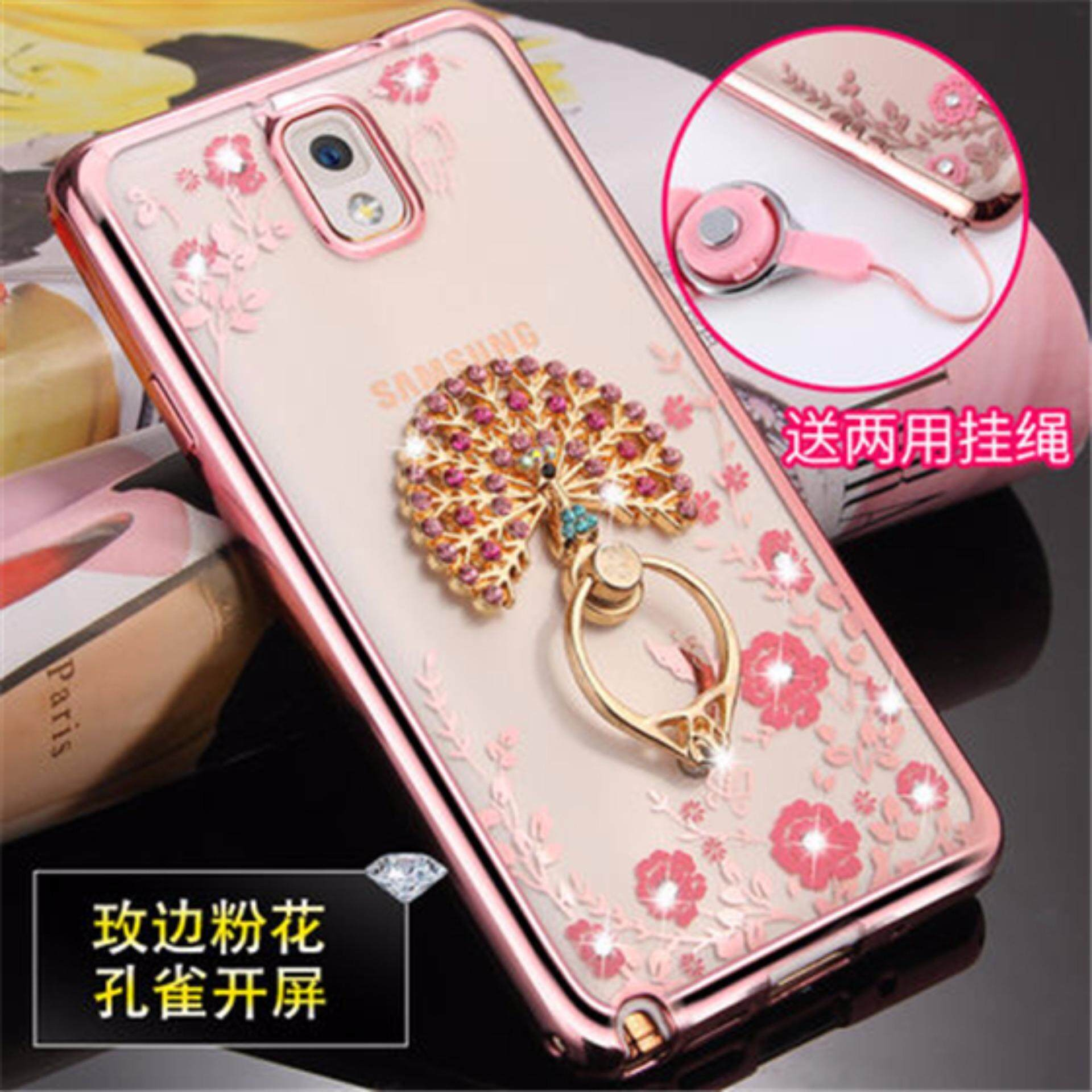 Luxury Rhinestone Phone Case Cover Finger Rotated Ring Holder Stand TPU For Samsung