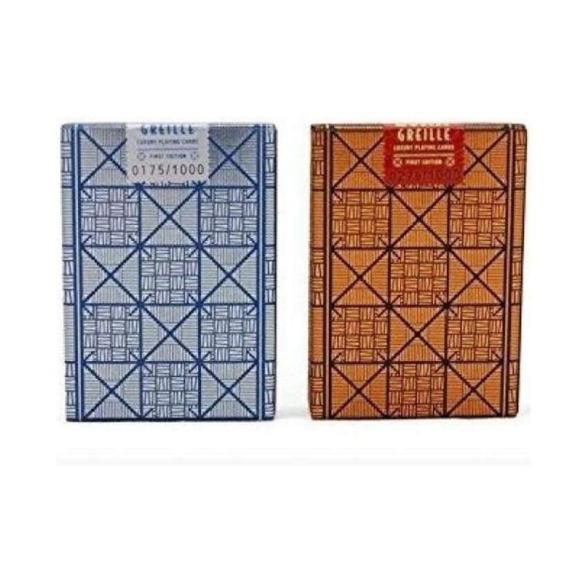 LUXX Greille Playing Cards (1 DECK Silver/Navy) Foiled Back LuxuryPlaying Cards - intl