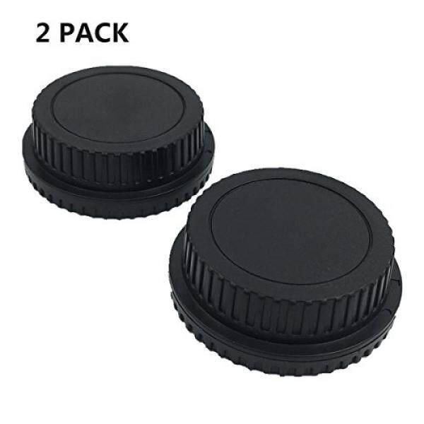 LX H 2 Pack Bagian Depan Topi & Belakang Tutup Lensa untuk Semua Canon EF-S EOS Mark II, III, IV, 7D Mark II D30, D60, 10D, 20D, 20DA, 30D, 40D, 5D, rebel XT, Xti, XSI, T1, T1i, T2i, T3, T3i, T4, T4i, T5i-Intl