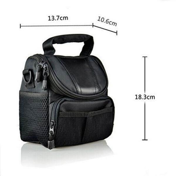 LXJ SMILE Black Soft Nylon Digital Camera Case Bag Cover Pouch for Nikon Coolpix 1 J5 J4 V3 P900 P610 P600 P520 L830 L320 L810 L820 L830 L840 P530 S1 J3 V2 V1 J1 with Nikkor Lens Kit - intl