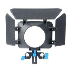 M1 Kotak Matte Naungan Kamera untuk 15 Mm Joran Pancing Mengikuti Fokus Rig Kamera Kandang