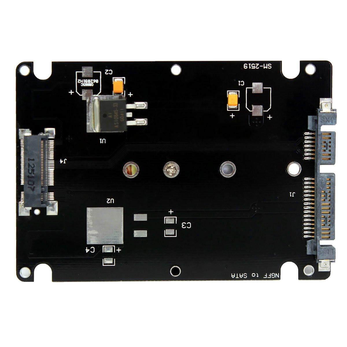 """Đánh giá M.2 NGFF (SATA) SSD 2.5 """"SATA Adapter Card 8 mét Độ Dày kèm Ốp Lưng-Đen-quốc tế Tại Channy"""