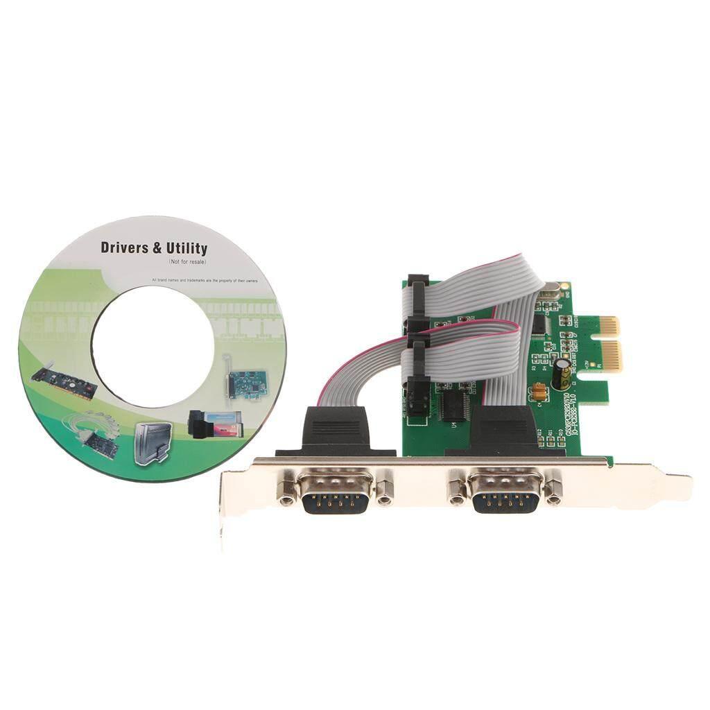 Magideal 2 Port Pci-e Express Ke Rs232 Kartu Ekspansi Serial DB9 COM RS232 Konverter