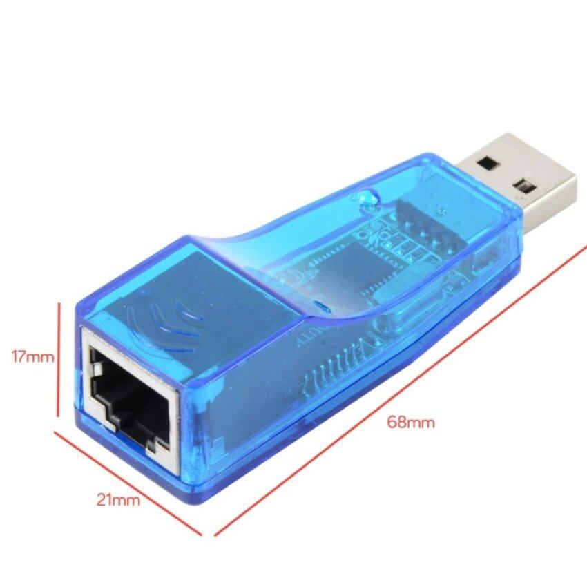 (Malaysia) USB Ke RJ45 LAN Adaptor Kartu Jaringan Komputer-Internasional