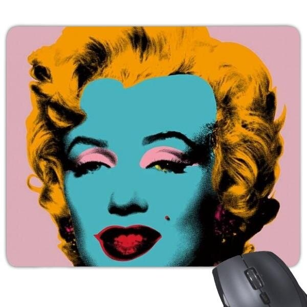 Marilyn Monroe Populer Perhatian Seni Gambar Neorealismo Andy Warhol Desain Ilustrasi Pola Rectangle Karet Non-slip Mouse Alas Permainan mouse Alas-Internasional