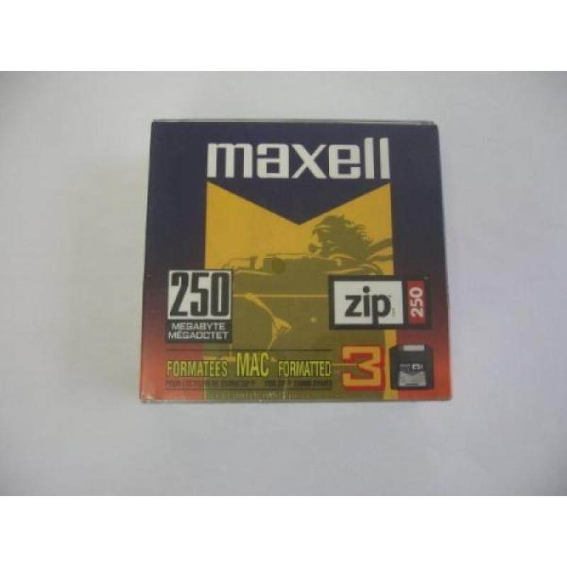 MAXELL 250MB Zip Disks for Macintosh (3 Pack) - intl
