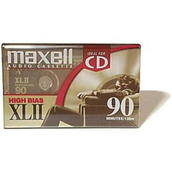 MAXELL XL-II C90 Blank Audio Cassette Tape 2 pack (Discontinued by Manufacturer) - intl