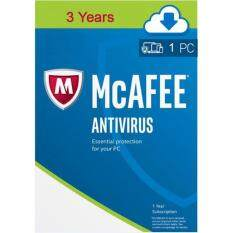 Mcafee Antivirus 2019 3 Years 1 User Windows And Mac By Genuine Softwares.