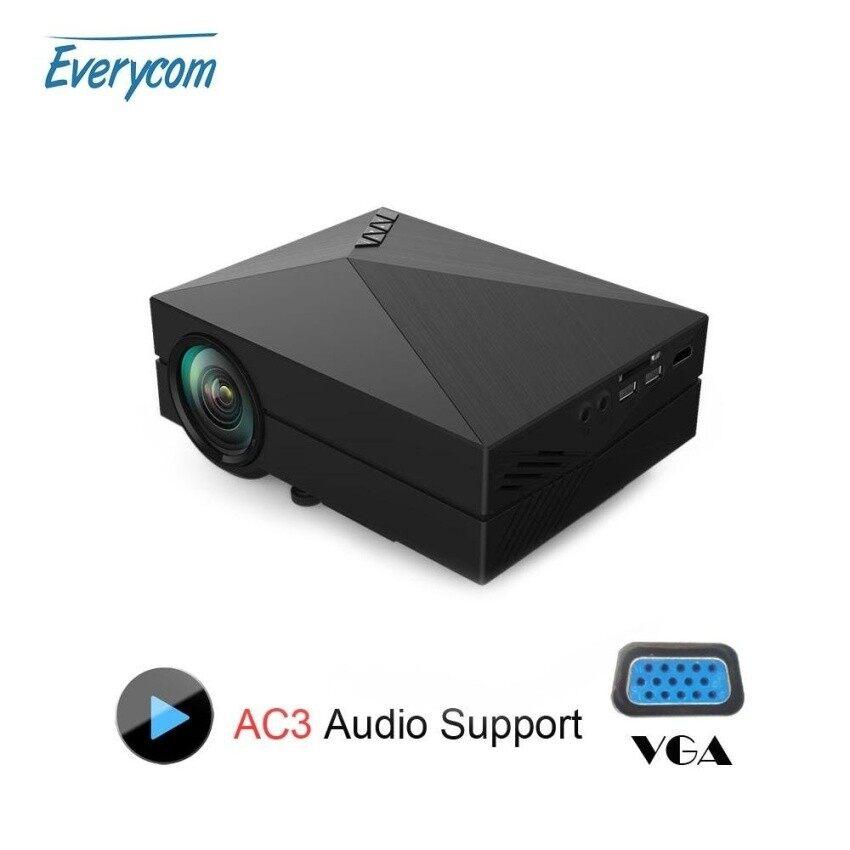 Media Pemutar Gm60 Mini Lcd Projector 1000 Lumens AC3 Dukungan Fullhdvideo Portabel LED Rumah Theater Murah HDMI Projector Beamer- internasional