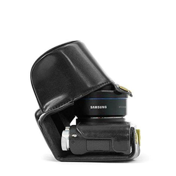 """MegaGear """"Ever Ready"""" Protective Leather Camera Case, Bag for Samsung NX3000 with 20"""