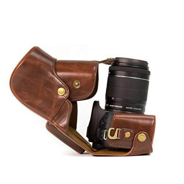 Megagear Dunkelbraun Leder Kameratasche F? R Canon EOS 100D, Ciuman X7, Canon EOS Rebel SL1 MIT 18-55 Mm Objektiv Digital Kamera-Intl