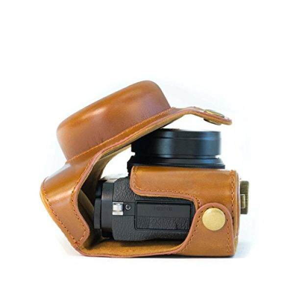 Megagear Leder Kameratasche F? R Fujifilm X30 12 MP Kompakte Systemkamera (Hellbraun)-Intl