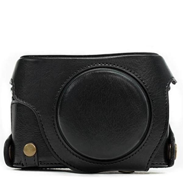 Megagear Panasonic Lumix DMC-LX100 Selalu Siap Leder Kamera Case MIT Trageriemen Und Batteriezugang Schwarz MG661-Intl