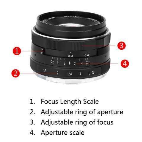Meike 35mm F/1.7 Fixed Manual Focus Multi-coated Camera Lens for Nikon Mirrorless Cameras 7