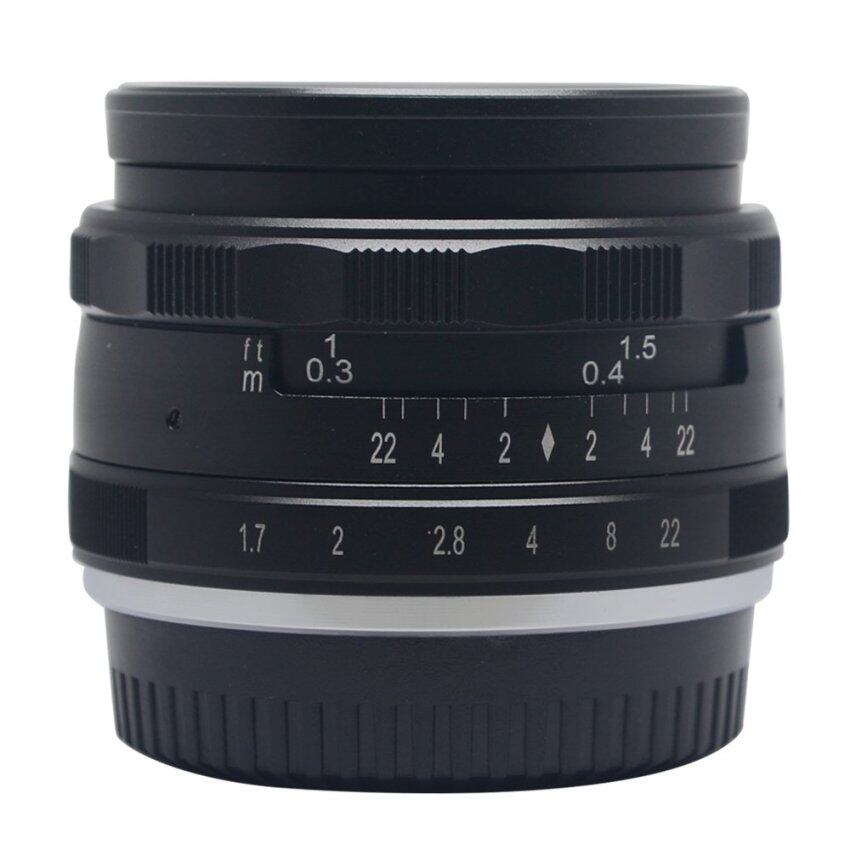 Microeco Meike 35mm f1.7 Large Aperture Manual Multi Coated Focus Lens Aps-C for Fujifilm Mirrorless Cameras X-a1 X-a2 X-e1 X-e2 X-e2s X-m1 X-t1 X-t10 X-pro1 X-pro2