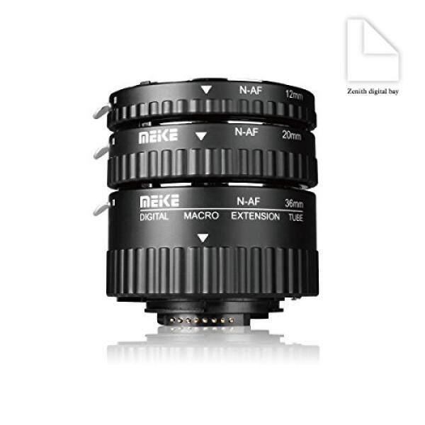 Meike Mk-n-af1-b Kunststoff Elektronik Makro Otomatis Foucs Ekstensi Adaptor Tabung F? R Nikon DSLR Kamera Und Nikkor AF AF-S D G Und VR-Objektiv Seri Kameras D80 D90 D300 D300sd800 d3100 D3200 D5000 D51000 D5200 D7000 D7100 Dll .. -Intl