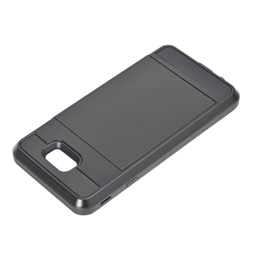 Meishengkai Case For Samsung Galaxy J7 Prime ,Dual Layer Hybrid Armor Hard  PC Skin + TPU Bumper Sliding Cover Secret Card Slot Shock Absorbing Case