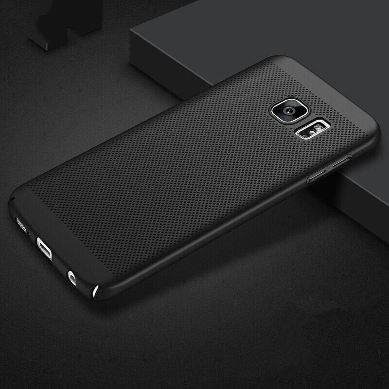 Jaring Anti-Sidik Jari Tahan Gores Tahan Pecah Disipasi Panas Ultra Tipis Anti Guncangan Case untuk Samsung Galaksi Note 5- internasional