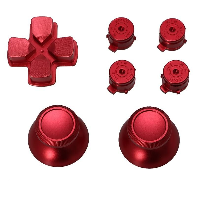 Metal Dpad Thumbstick Cap Bullet Buttons For So ny PS4 DualShock 4 Controller Kit - intl