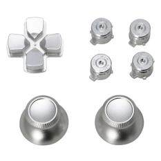 Metal Dpad Thumbstick Cap Bullet Buttons For So ny PS4 DualShock 4 Controller Kit