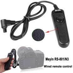 Meyin RS-801/N3 Kabel Pelepasan Rana Pengendali Jarak Jauh Kompatibel dengan Canon: EOS 1D Seri 5D Seri 6D Seri 7D Seri 50D 40D 30D 20D 10D
