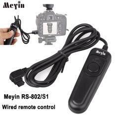 Meyin RS-802/S1 Kabel Pelepasan Rana Pengendali Jarak Jauh Kompatibel dengan Sony DSLRA900 A850 CA560 A550 A700 A500 A400 A350 A300 A200 a100 A99 A99II A77 A77II A56 A57 A55 A35 A33 A37 Konica Minolta DIMAGE A2 A1 9 7HI 7I 7 5 4 3 Dynax 7D 5D Kamera