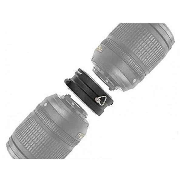 Micnova Ganda Yang Inovatif Logam Halterung F? R Nikon F Objektive? Schwarz-Intl