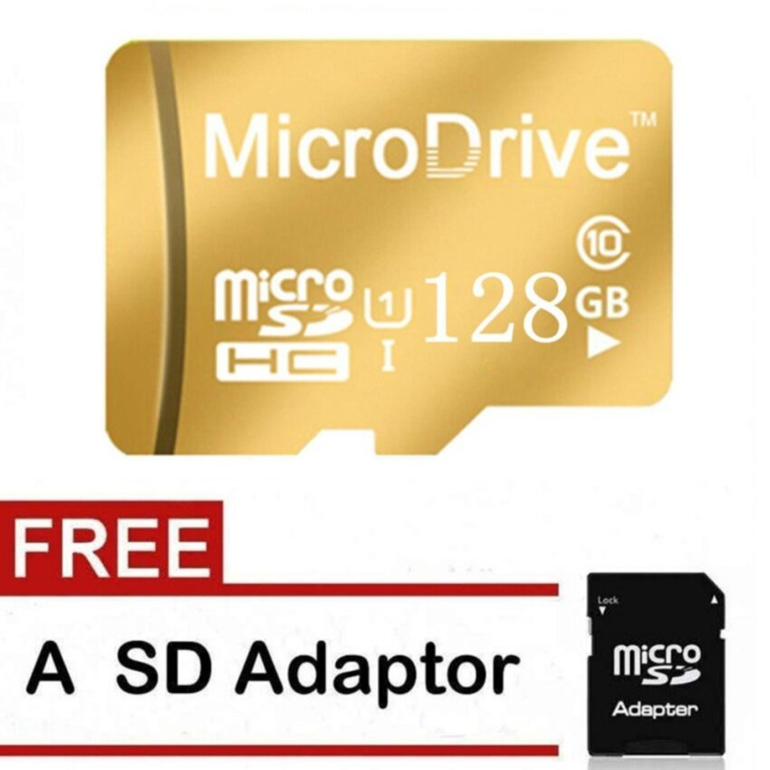 Micro Memory Sd Tf Card Calss 10 128Gb Gold Intl Shopping
